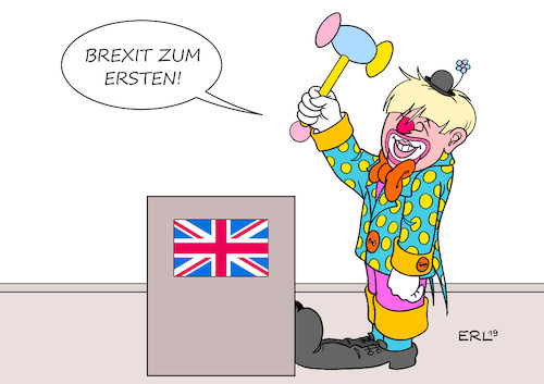 Cartoon: Brexit (medium) by Erl tagged politik,brexit,austritt,großbritannien,uk,eu,vertrag,parlament,hürde,premierminister,boris,johnson,clown,versteigerung,hammer,karikatur,erl,politik,brexit,austritt,großbritannien,uk,eu,vertrag,parlament,hürde,premierminister,boris,johnson,clown,versteigerung,hammer,karikatur,erl