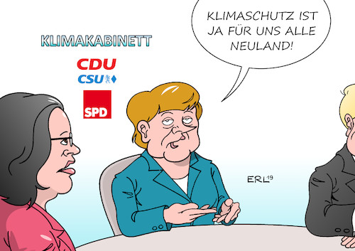 Cartoon: Klimakabinett (medium) by Erl tagged illustration,politik,große,koalition,cdu,csu,spd,klimawandel,klimapolitik,versagen,konflikt,junge,menschen,youtuber,social,media,internet,neuland,merkel,nahles,karikatur,erl,illustration,politik,große,koalition,cdu,csu,spd,klimawandel,klimapolitik,versagen,konflikt,junge,menschen,youtuber,social,media,internet,neuland,merkel,nahles,karikatur,erl