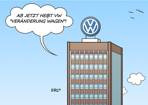 Cartoon: VW (medium) by Erl tagged vw,abgasskandal,software,motor,diesel,abgase,abgaswerte,manipulation,test,messung,volkswagen,vertrauen,verlust,veränderung,wagen,offenheit,ehrlichkeit,name,karikatur,erl,vw,abgasskandal,software,motor,diesel,abgase,abgaswerte,manipulation,test,messung,volkswagen,vertrauen,verlust,veränderung,wagen,offenheit,ehrlichkeit,name,karikatur,erl