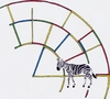 Cartoon: zzz-xebra (small) by robobenito tagged zebra,animal,stripes,color,rainbow,spectrum,mammal,fantasy,dream,clockwork,structure,surreal,environment,science,fiction,ink,pencil,colors,animals,horse,arch,planet