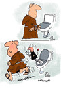 Cartoon: Devilish (small) by EASTERBY tagged monks devils toilets