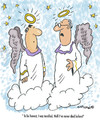 Cartoon: First Time (small) by EASTERBY tagged angels heaven death dying
