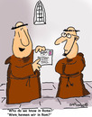 Cartoon: HOLY ORDERS 10 (small) by EASTERBY tagged monks,halos,faith,believing,letters