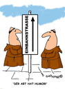 Cartoon: HOLY ORDERS 4 deutsch (small) by EASTERBY tagged monks,halos,heaven