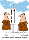 Cartoon: HOLY ORDERS 4 english (small) by EASTERBY tagged monks,halos,heaven