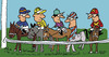 Cartoon: Horse Race (small) by EASTERBY tagged horse,racing,jockeys
