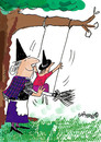 Cartoon: Mrs and Miss Witch (small) by EASTERBY tagged witches