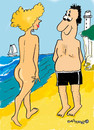 Cartoon: Walk on the beach (small) by EASTERBY tagged beach summer ladies