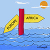 Cartoon: Welcome to Europe (small) by EASTERBY tagged asylumseekers,immigants,eupolitics,racist