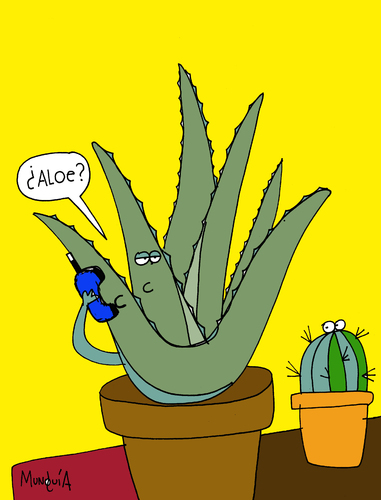 Cartoon: aloe (medium) by Munguia tagged vera,aloe