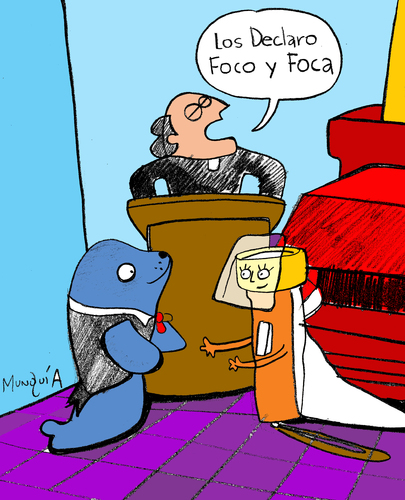 Cartoon: Foco y Foca (medium) by Munguia tagged flash,light,flashlight,seal,foco,foca