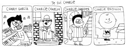 Cartoon: Je sui charlie (medium) by Munguia tagged charly,garcia,charlie,hebdo,yo,soy