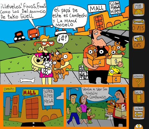 Cartoon: Practice spanish on this Comic (medium) by Munguia tagged comic,historieta,perros,mascotas,puppy,mills,criaderos,dogs,costa,rica,guau,bienestar,animal,munguia,cachorros,petshop,pet