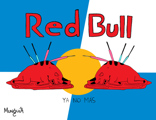 Cartoon: Red Dead Bull (medium) by Munguia tagged bull,fight,toro,munguia,stadium,redbull,red,dead,blood,killing,kill