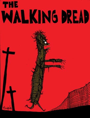 Cartoon: The Walking Dread (medium) by Munguia tagged walking,dead,dread,zombies,zombie,living,bad,hair,day,myself