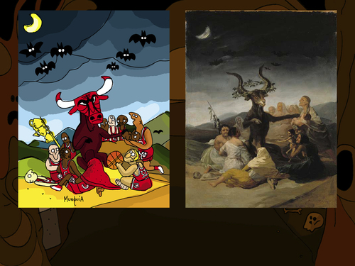 Cartoon: Horror Paintings Parodies Test (medium) by Munguia tagged video,game,online,flash,test,abc,famous,paintings,parodies,classical,art,spoof