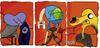 Cartoon: Adventure Time (small) by Munguia tagged fan,art,francis,bacon,adventure,time,marceline,finn,jake,dog,human,three,studies,for,figures,at,the,base,of,crucifixion
