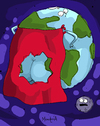 Cartoon: Capa de ozono (small) by Munguia tagged culo,del,mundo,emision,de,gases,capa,ozono,calcamunguias,planeta,tierra,earth