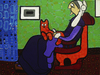 Cartoon: Company (small) by Munguia tagged james,macneill,whistler,mother,arrangement,in,grey,and,black,no1,cat,pet,mascot,animals,mascotas,famous,paintings,parodies,parody,version,spoof