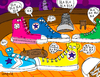 Cartoon: Converse sation (small) by Munguia tagged converse,sneekers,shoes,tennis,conversation,talk,speak,talking,bar,public