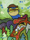 Cartoon: Cyclops (small) by Munguia tagged xmen,superhero,parody,painting,redon,odilon,cyclops,eye,glasses,mutant