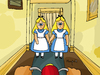Cartoon: Double Alice (small) by Munguia tagged shining,kubrick,stanley,twins,scary