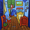 Cartoon: el cuarto de Van Gogh (small) by Munguia tagged van,gogh,room,arles