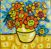 Cartoon: Flowers (small) by Munguia tagged sunflowers,flowers,vincent,van,gogh,famous,paintings,parodies,parody,spoof,version