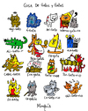 Cartoon: gatos y gatas (small) by Munguia tagged cats,gatos,gatas,word,play,game,sufijos,munguia,kitty