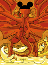 Cartoon: Great red Dragon (small) by Munguia tagged william,blake,great,red,dragon