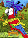 Cartoon: GuacaMayan (small) by Munguia tagged maya,guacamaya,macaw,bird
