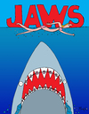 Cartoon: Jaws (small) by Munguia tagged jaws,shark,teeth,dientes,tooth,braces
