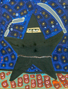 Cartoon: Ninja Star -painting version- (small) by Munguia tagged ninja,star,munguia,costa,rica,cartoon