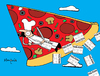 Cartoon: Pizza Flyer (small) by Munguia tagged pizzapitch pizza food flyers disign delta slice flying fly