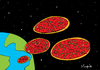 Cartoon: pizza invasion (small) by Munguia tagged pizzapitch space ufo aliens fast food munguia costa rica cartoon