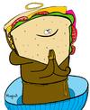 Cartoon: Saintwich (small) by Munguia tagged sandwich food saint soda munguia costa rica