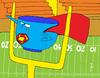 Cartoon: Super Bowl (small) by Munguia tagged super,bowl,american,football,futbol,americano,man,hero