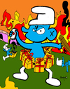 Cartoon: Terrorist Smurf (small) by Munguia tagged terror,smurf,terrorist,joker,joke,explosion,pitufo,terrorista,munguia,costa,rica