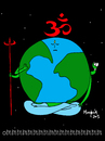 Cartoon: THE HUM (small) by Munguia tagged om,hum,planet,earth,world,life,love