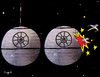 Cartoon: Twin death Stars of terrorism (small) by Munguia tagged september11,911,twin,towers,new,york,terror,usa,2001,star,wars,deathstar,lucas,munguia,terrorism,space