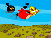 Cartoon: Why Angry Birds? (small) by Munguia tagged angry,birds,video,games,nature,ipod,pc,munguia,cartoon,costa,rica