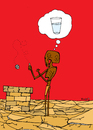 Cartoon: Wishing Well (small) by Munguia tagged thirst,water,well,wish,wishing,better,pozo,agua,hunger,africa,desert,drought,munguia,costa,rica,humor,grafico,caricatura