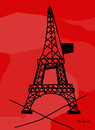 Cartoon: xxxxxxxxxxxxxxx (small) by Munguia tagged charlie,hebdo,eiffel,towel,france,kill,massacre,censorship,magazine,nope