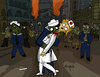 Cartoon: Zombie Kiss (small) by Munguia tagged alfred,eisenstaedt,sailor,and,nurse,kiss,time,square,day,parody