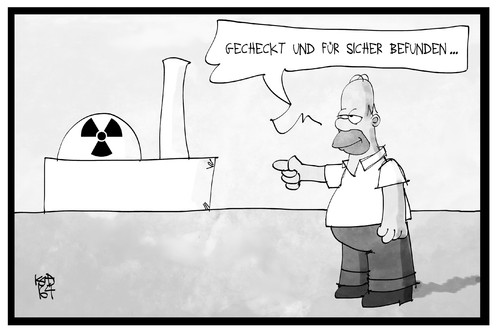 Cartoon: AKW-Sicherheit (medium) by Kostas Koufogiorgos tagged karikatur,koufogiorgos,illustration,cartoon,akw,atomkraftwerk,homer,simpson,comicfigur,kontrolleur,kontrolle,nuklear,energie,karikatur,koufogiorgos,illustration,cartoon,akw,atomkraftwerk,homer,simpson,comicfigur,kontrolleur,kontrolle,nuklear,energie