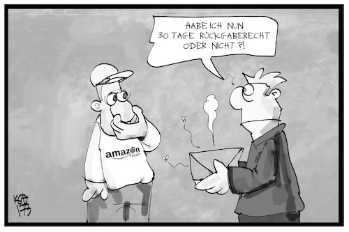 Cartoon: Amazon Fresh (medium) by Kostas Koufogiorgos tagged karikatur,koufogiorgos,illustration,cartoon,amazon,fresh,rückgabe,kunde,rückgaberecht,umtausch,wirtschaft,online,kaufhaus,karikatur,koufogiorgos,illustration,cartoon,amazon,fresh,rückgabe,kunde,rückgaberecht,umtausch,wirtschaft,online,kaufhaus