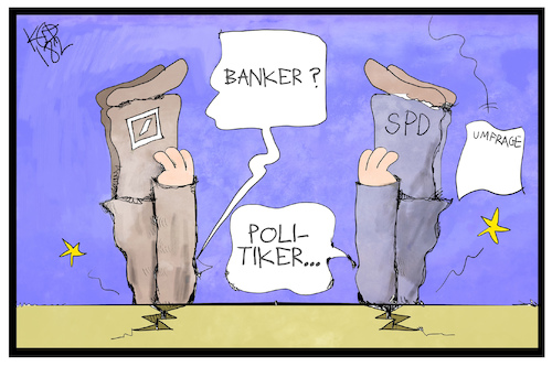 Cartoon: Banker und Politiker (medium) by Kostas Koufogiorgos tagged karikatur,koufogiorgos,cartoon,illustration,banker,politiker,kopflos,umfrage,karikatur,koufogiorgos,cartoon,illustration,banker,politiker,kopflos,umfrage