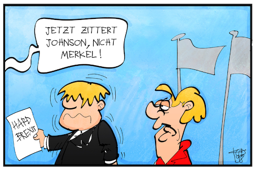 Boris Johnson zittert