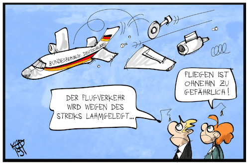 Cartoon: Flugverkehr (medium) by Kostas Koufogiorgos tagged karikatur,koufogiorgos,illustration,cartoon,flugzeug,flugverkehr,regierungsflieger,defekt,panne,streik,transport,karikatur,koufogiorgos,illustration,cartoon,flugzeug,flugverkehr,regierungsflieger,defekt,panne,streik,transport