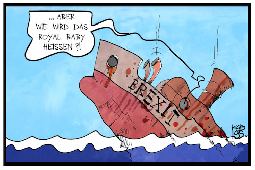 Cartoon: Großbritannien (medium) by Kostas Koufogiorgos tagged karikatur,koufogiorgos,illustration,cartoon,grossbritannien,brexit,uk,europa,royal,baby,harry,meghan,winsor,adel,königsfamilie,schiff,untergang,problem,karikatur,koufogiorgos,illustration,cartoon,grossbritannien,brexit,uk,europa,royal,baby,harry,meghan,winsor,adel,königsfamilie,schiff,untergang,problem
